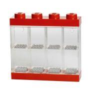Minifigure 8 Display Case 4 Knob Red