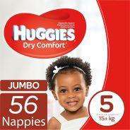 Dry Comfort Nappies Size 5 Jumbo Pack 56's