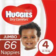 Dry Comfort Nappies Size 4 Jumbo Pack 66's