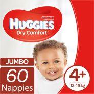 Dry Comfort Nappies Size 4+ Jumbo Pack 60's