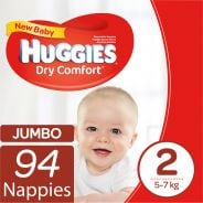 Dry Comfort Nappies New Baby Jumbo Pack 94's