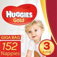 Gold Nappies Size 3 Gigabag 152's