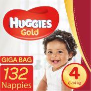 Gold Nappies Size 4 Gigabag 132's