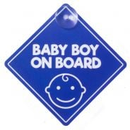 Baby On Board Sign - Blue