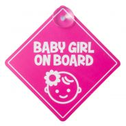 Baby On Board Sign Pink