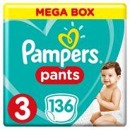 Baby Dry Size 3 Mega Box 136  Pants