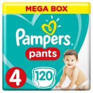 Baby Dry Size 4 Mega Box 120 Pants